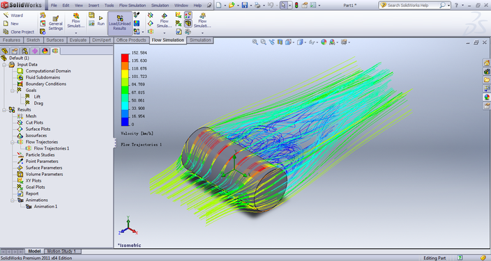 Cylinder body Flow Analysis and Simulation