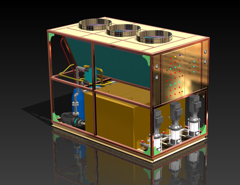Water Chiller 3d Cad Model Library Grabcad
