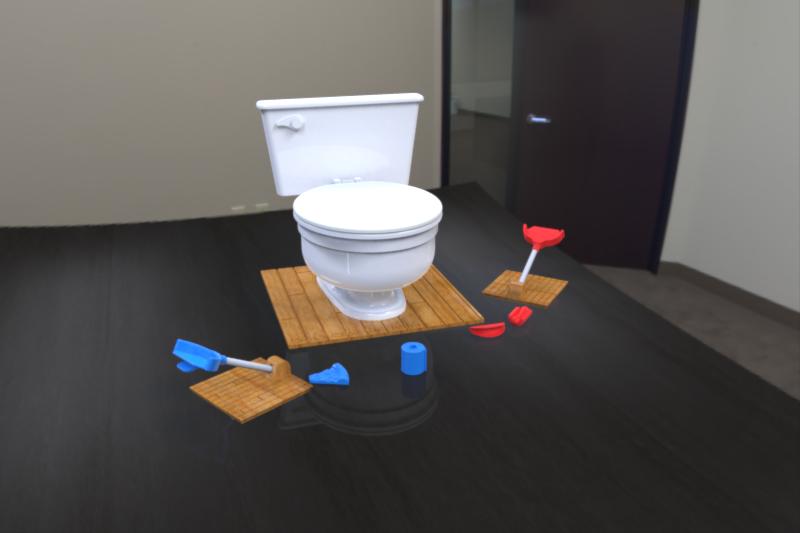 don 39 t clog the toilet game step iges 3d cad model grabcad. Black Bedroom Furniture Sets. Home Design Ideas