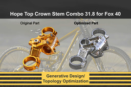 Hope Top Crown Stem Combo 31.8 for Fox 40 (Topology Optimization)
