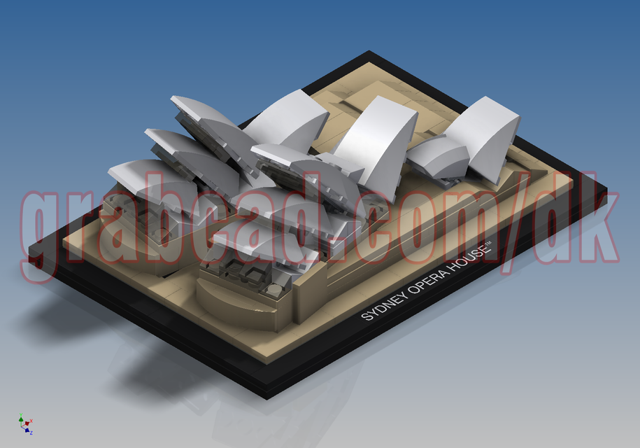 Lego Architecture Sydney Opera House 21012 3d Cad Model