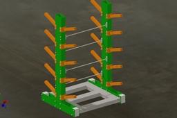 Cantilever Rack w/ fork truck pockets