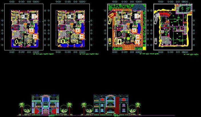 Architectural cad for villa autocad 3d cad model grabcad for Villa plan dwg
