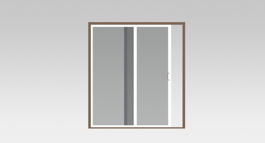 Sliding Door With Double Glasses 3d Cad Model Library Grabcad