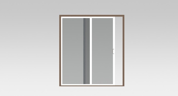 sliding door with double glasses