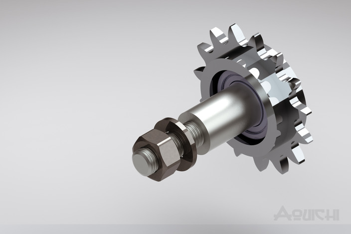 Industrial Chain Tensioner : Chain tensioner tendeur de chaîne step iges d cad