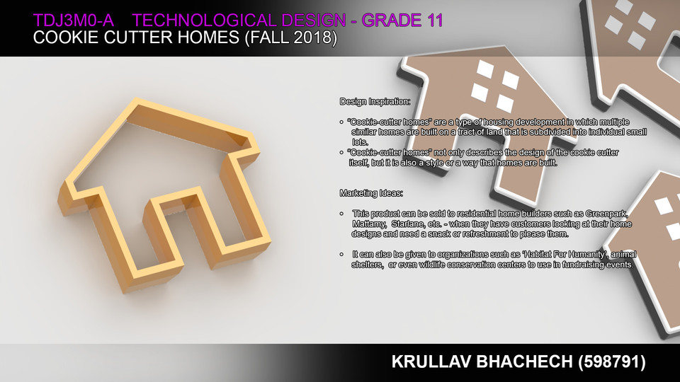 Cookie Cutter Homes   3D CAD Model Library   GrabCAD
