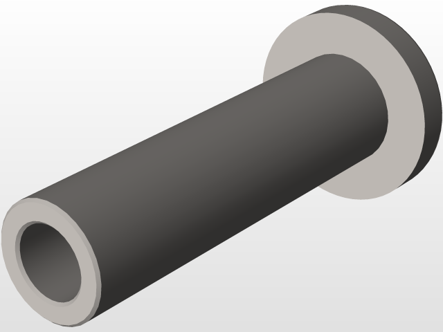Pan head socket barrel nut | 3D CAD Model Library | GrabCAD