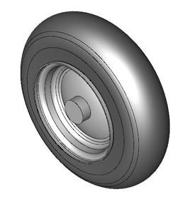 Wheelbarrow tyre + hub