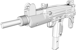 Uzi submachine gun 9mm