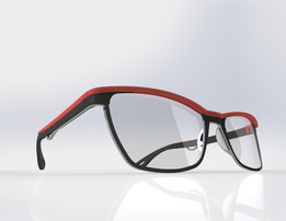 Acetate and titanium optical frame