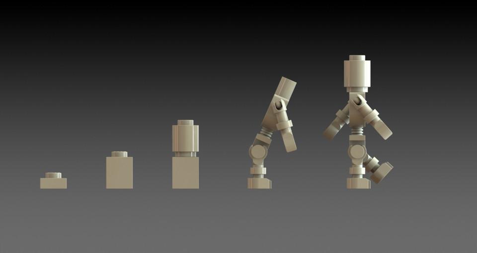 Lego Skeleton Dummy Minifigure Ninjago Theme | 3D CAD Model Library ...