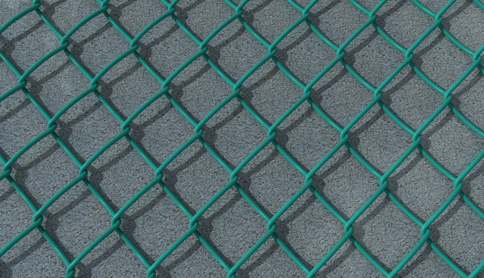 Chain Link Fence | 3D CAD Model Library | GrabCAD