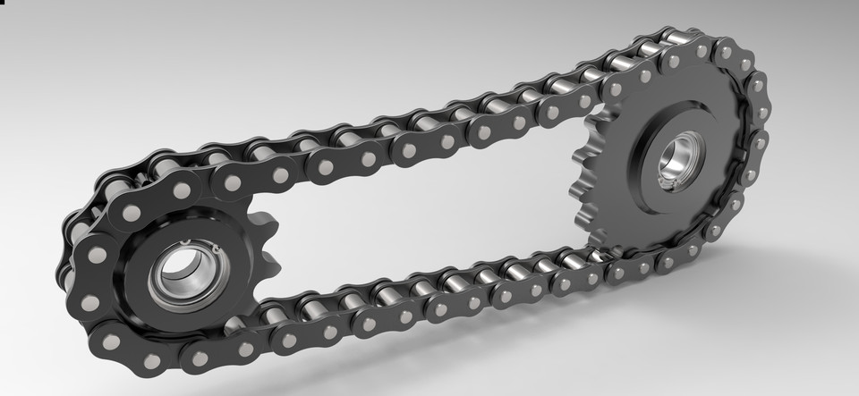 Drive And Chain Link Attachments : Roller chain drive and sprockets b type iso din