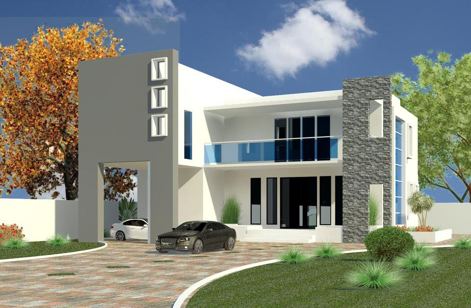 Front Elevation Design In Revit : Contemporary house d cad model library grabcad