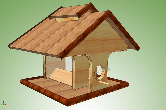 Bird Feeder Wooden DIY Woodworking PDF Plans