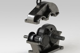protec 7-116 - redutor de velocidade 2 eixos / gearbox 2-axis
