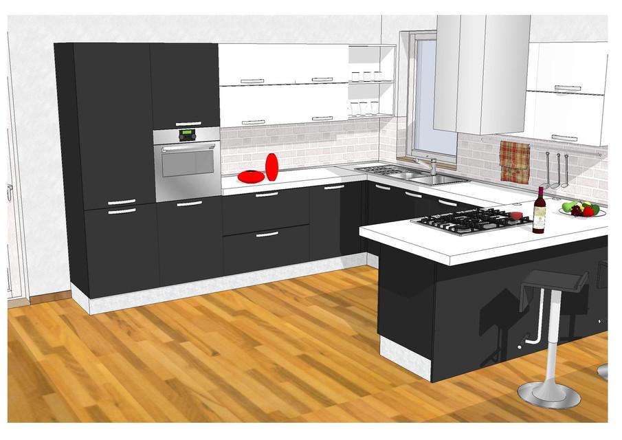 Kitchen Design 3d Cad Model Library Grabcad