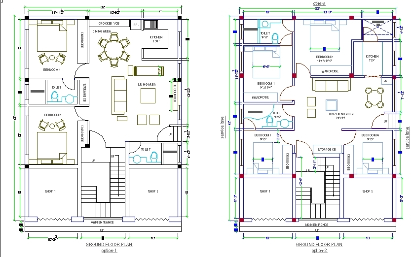 House design autocad 3d cad model grabcad for House plans cad drawings
