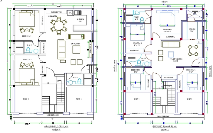 Cad Drawing House House design.dwg 140 kb v1 by