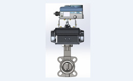 Burkert Type 8802, DN50 Butterfly Valve with pneumatic controller and electric actuator