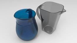 Jar Glass Complex Surface