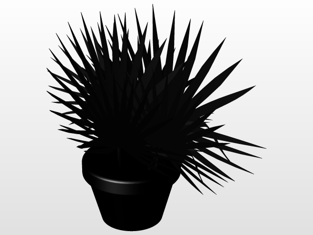 Palm tree plant   3D CAD Model Library   GrabCAD