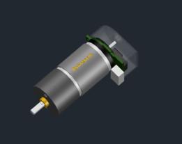 Robotpark 25mm Small Dc Motor 500Rpm with Encoder