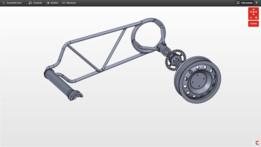 motorbike wheel frame