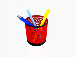 Pens Basket GRABCAD