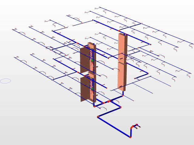 Fire pump room with waterstorage below | 3D CAD Model