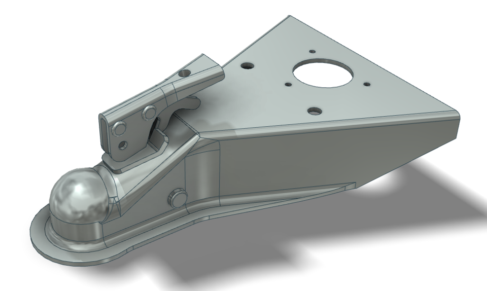 Trailer Hitch Coupler, A-Frame | 3D CAD Model Library | GrabCAD