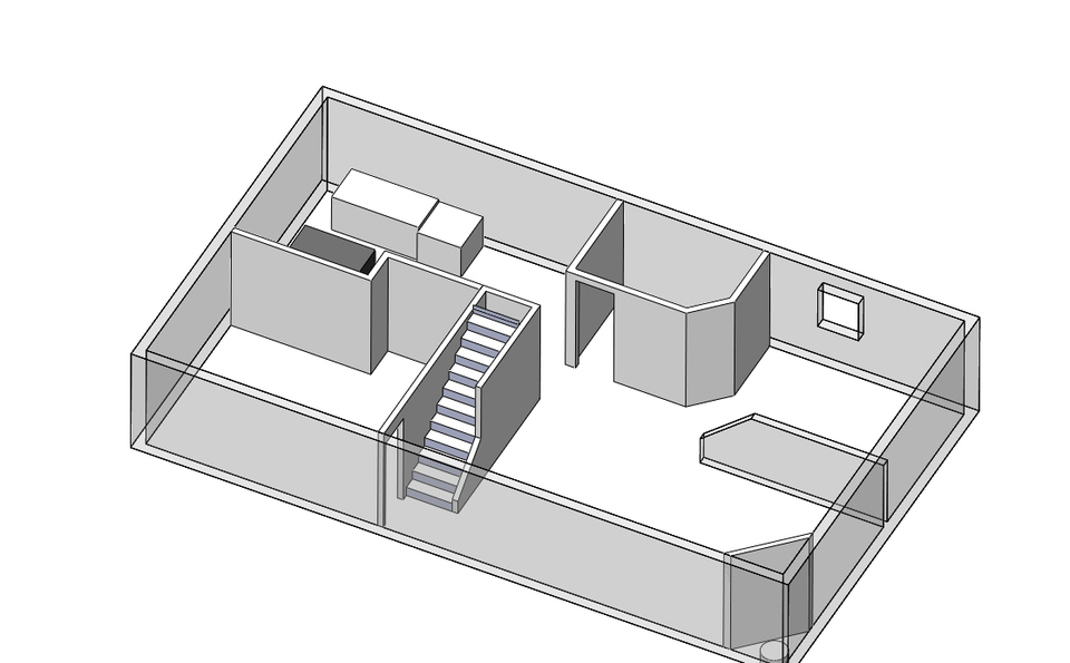 floor plan layout 3d cad model library grabcad
