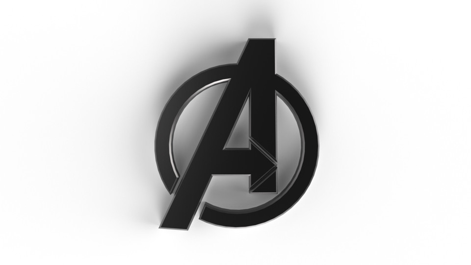 The Avengers Logo 3d Cad Model Library Grabcad