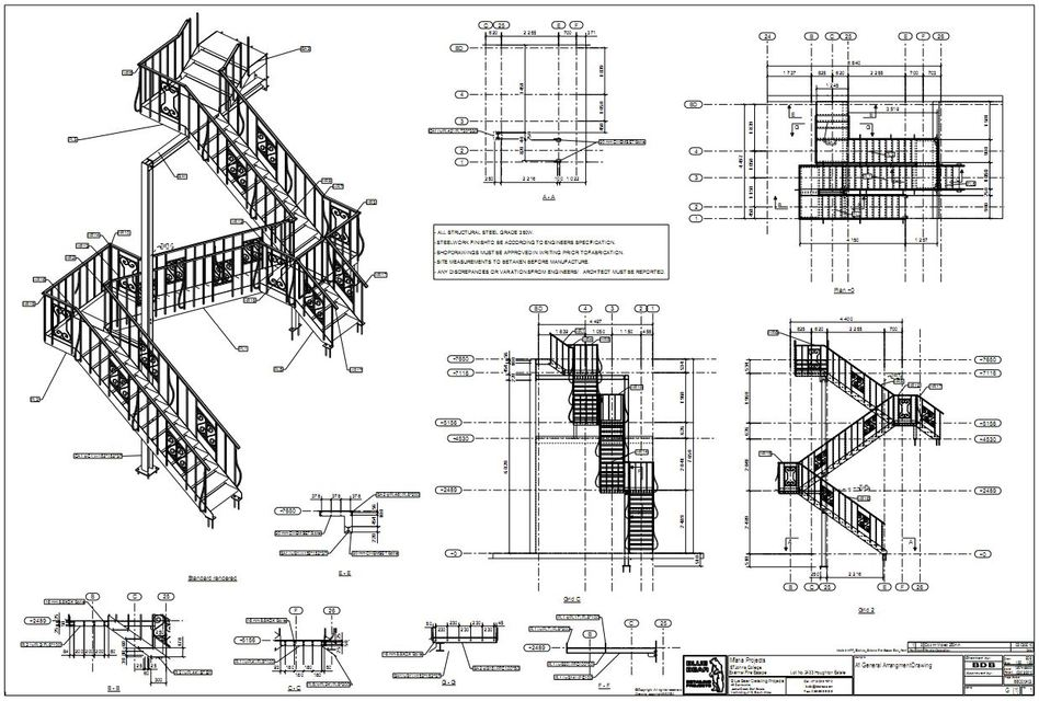 Fire Escape Dwg Related Keywords & Suggestions - Fire Escape