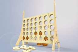 Wooden Connect 4