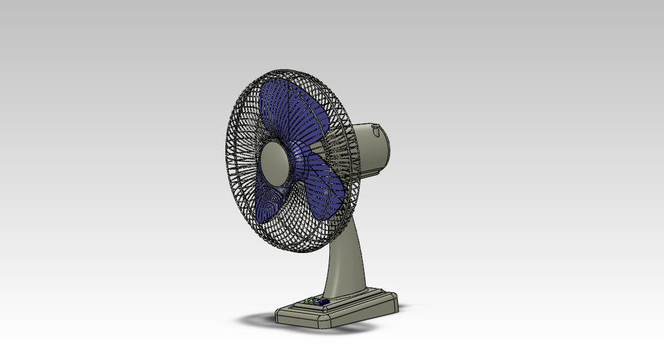 TABLE FAN | 3D CAD Model Library | GrabCAD