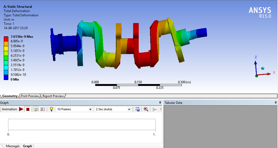 Analysis on crankshaft | 3D CAD Model Library | GrabCAD