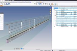 Garde-corps paramétré avec tronçons (Parametric railing) - TopSolid 7
