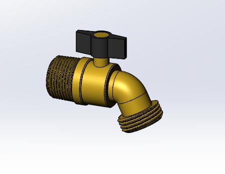 Garden Hose Faucet | 3D CAD Model Library | GrabCAD