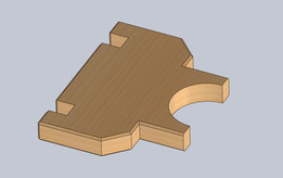 lathe made of pine wood
