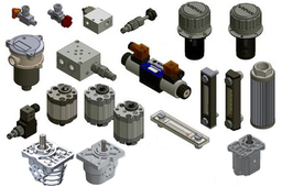 Hydraulic components in the format - *.stp