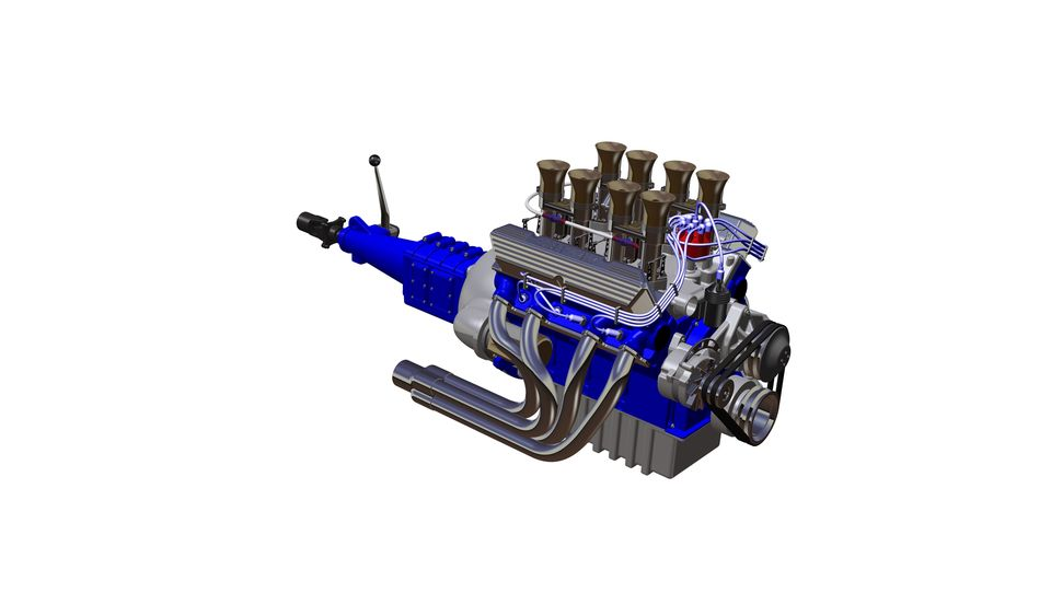 Engine ford 427 3d cad model library grabcad malvernweather Choice Image