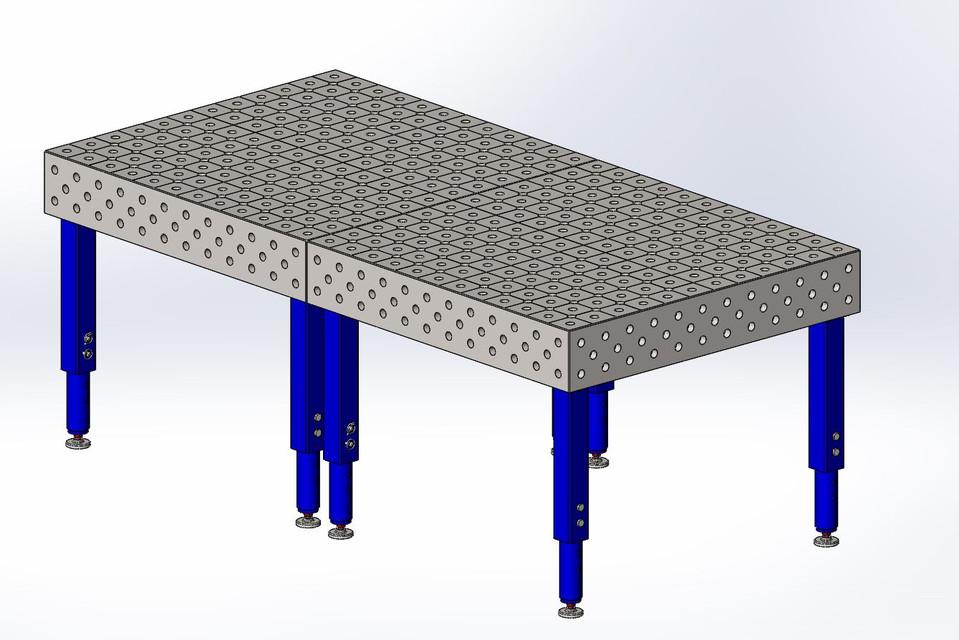 Welding table solidworks step iges 3d cad model for Table design 3d model