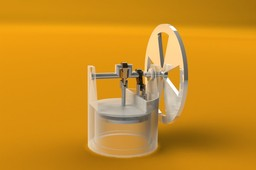 Penny-size Gamma-type Stirling Engine