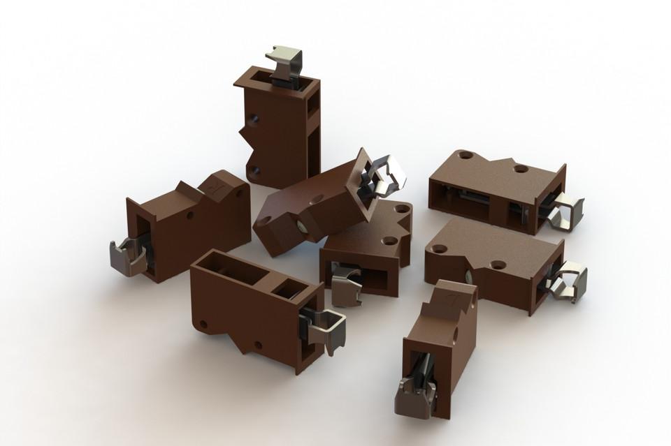 kitchen cabinet hanger   3D CAD Model Library   GrabCAD