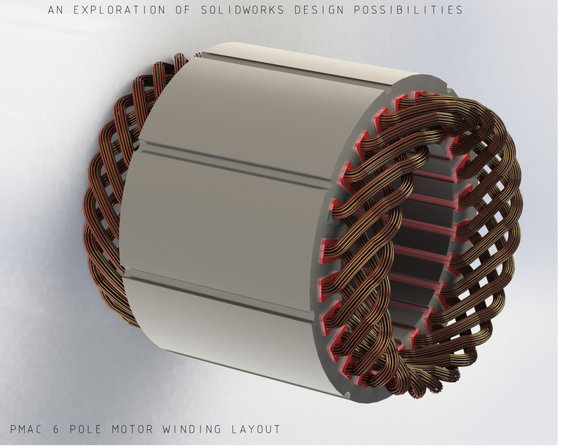 Stator winding for Electric motor design software