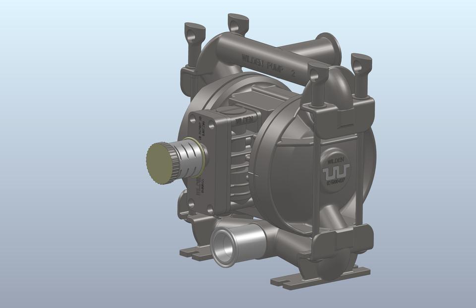 Wilden 02 5000 03p diaphragm pump 3d cad model library grabcad ccuart Images