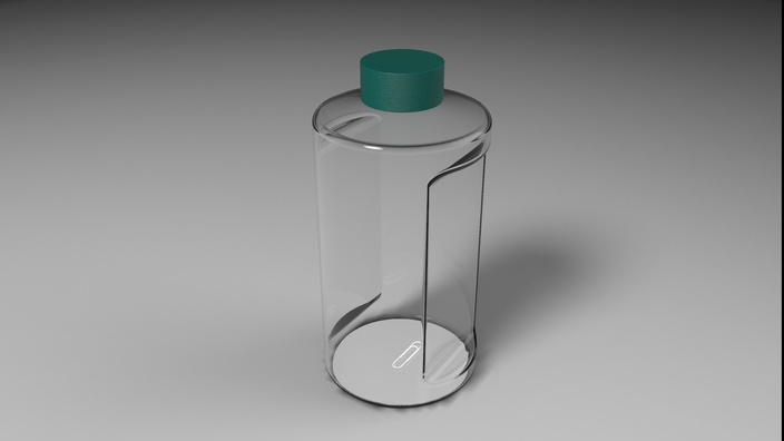 Paperclip in Bottle