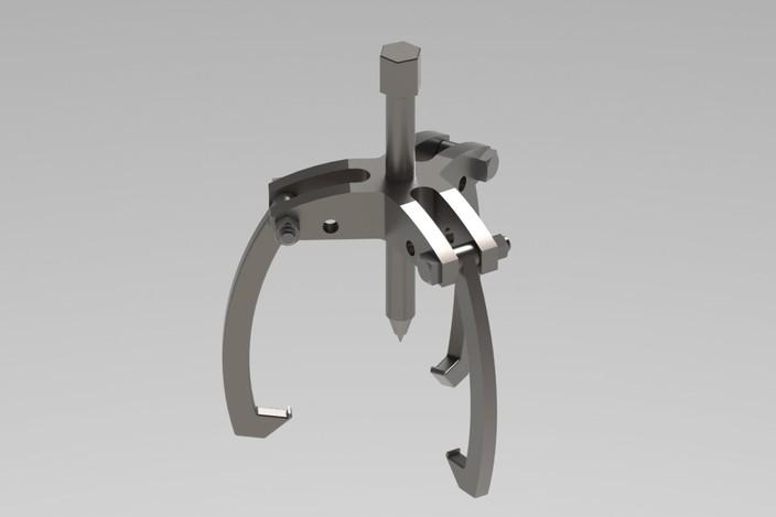 Bearing Puller Cad : Bearing puller step iges solidworks d cad model